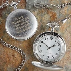 Personalized 80th Birthday Pocket Watch