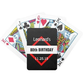 80th Birthday Playing Cards - Choice of Styles