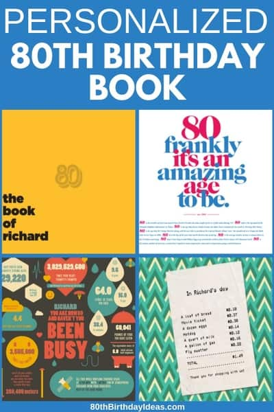 Personalized 80th Birthday Book - Quickly create a unique gift for any 80 year old! It takes just a few minutes to create a personalized book that's perfect for celebrating milestone birthdays. #80thBirthdayIdeas #80thBirthday #giftsforgrandpa