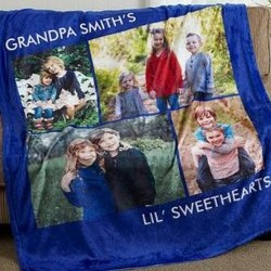 Personalized Photo Blanket - Up to 6 Pictures