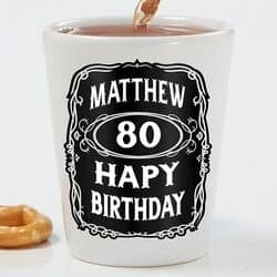 Personalized 80th Birthday Shot Glass