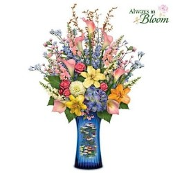 Illuminated Claude Monet Crystal Centerpiece