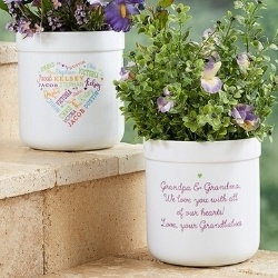 80th Birthday Flower Pot - with up to 21 Names
