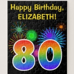 80th Birthday Jigsaw Puzzle - Choice of Styles