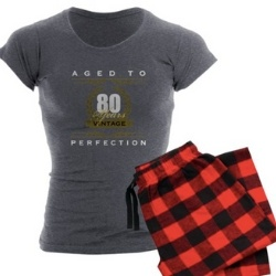 80th Birthday Pajamas for Women - Choice of Styles