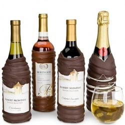 Wine or Champagne Dipped in Gourmet Guittard Dark Chocolate