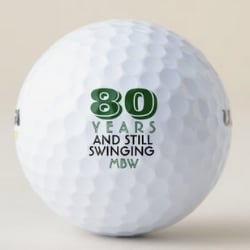 Funny 80th Birthday Golf Balls
