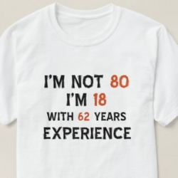 Funny 80th Birthday Shirt - Men's and Women's Styles