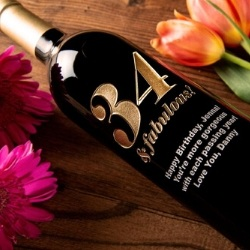 Personalized 80th Birthday Wine Bottle