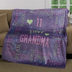 Personalized Reasons Why Blanket with Names