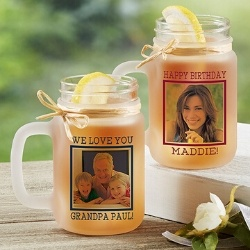 Personalized Mason Jar with Photo