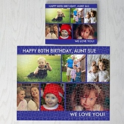 Personalized 500 Piece Puzzle with up to 6 Photos