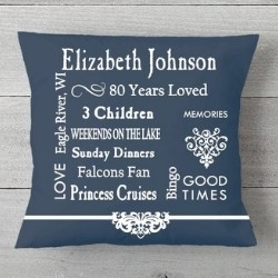 80 Years Loved Personalized Pillow - Choice of Colors