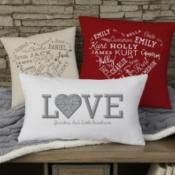Close to Her Heart Pillow with up to 21 Names