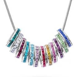 Silver or Gold Family Necklace - up to 14 Birthstones