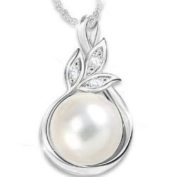 Generations of Love Pearl & Diamond Necklace for Mom