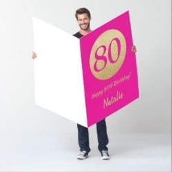Oversized Personalized 80th Birthday Greeting Card
