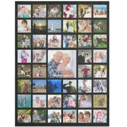 Personalized 45 Picture Photo Collage Blanket