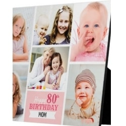 Personalized 80th Birthday Photo Plaque