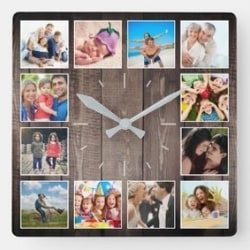 Photo Collage Clock - Choice of Styles
