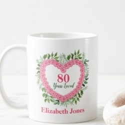 Personalized 80 Years Loved Coffee Mug