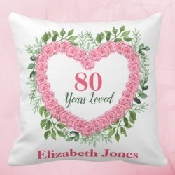 80 Years Loved Personalized Pillow