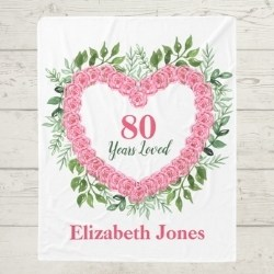80 Years Loved Personalized Blanket for Women