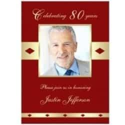 Celebrating 80 Photo Invitations - Choice of 4 Colors