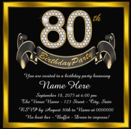 Elegant black and gold birthday party invitations are perfect for an upscale gathering