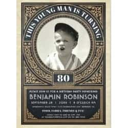 Funny Birthday Invitation for Men with Picture