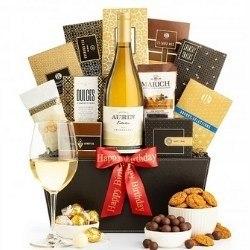 Elegant Wine Gift Basket - Ships Free!