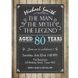 The Man, The Myth, The Legend Invitation for Men